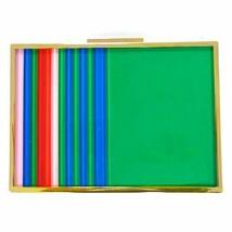 Sondra Roberts Lucite Striped Multi/Red Clutch - $94.05