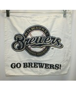 "Milwaukee Brewers Promo Hand Towel 16.5""x 13.75"" Go Brewers! - $9.89"