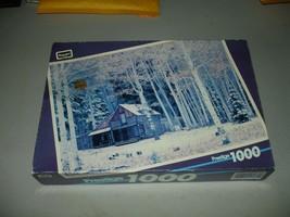 RoseArt Prestige 1000 Piece Jigsaw Puzzle Cabin in Aspen - Brand New, Se... - $8.90