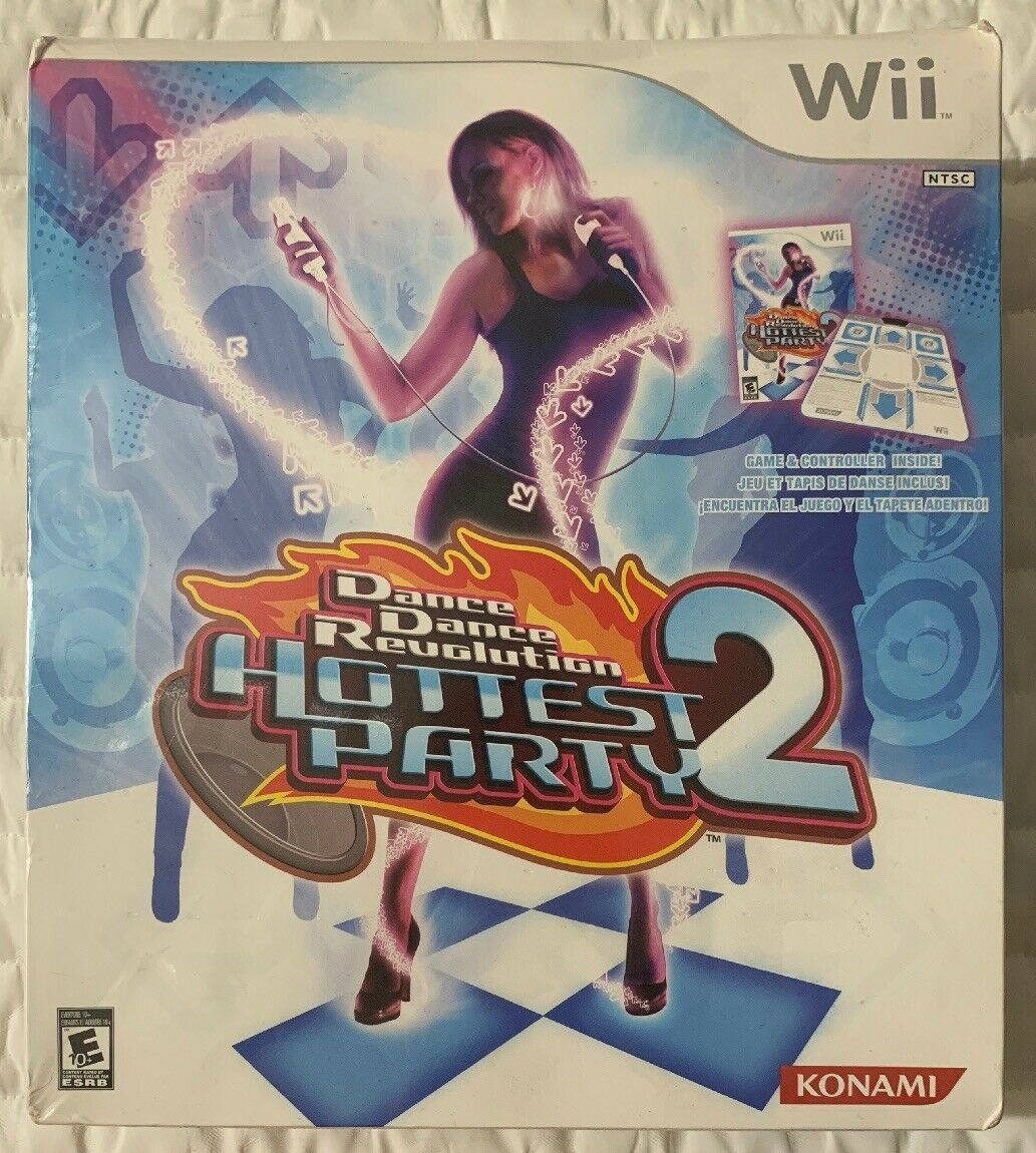 Primary image for Konami Dance Revolution: Hottest Party 2 With Dance Mat Nintendo Wii New Sealed