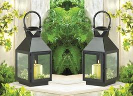 Classic Medium Black Revere Votive Candle Lantern w/ Clear Glass Set of 2 - $42.95