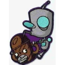 NEW UNUSED Invader Zim Animated TV Series Gir Monkey Drink Embroidered Patch