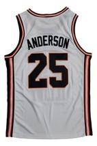 Nick Anderson Fighting Illinois College Basketball Jersey Sewn White Any Size image 2