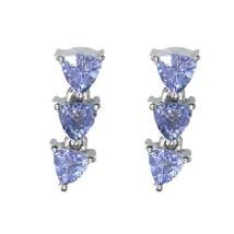 Trillion Shape Tanzanite Gemstone 925 Sterling Silver Women Wedding Earring - $14.10