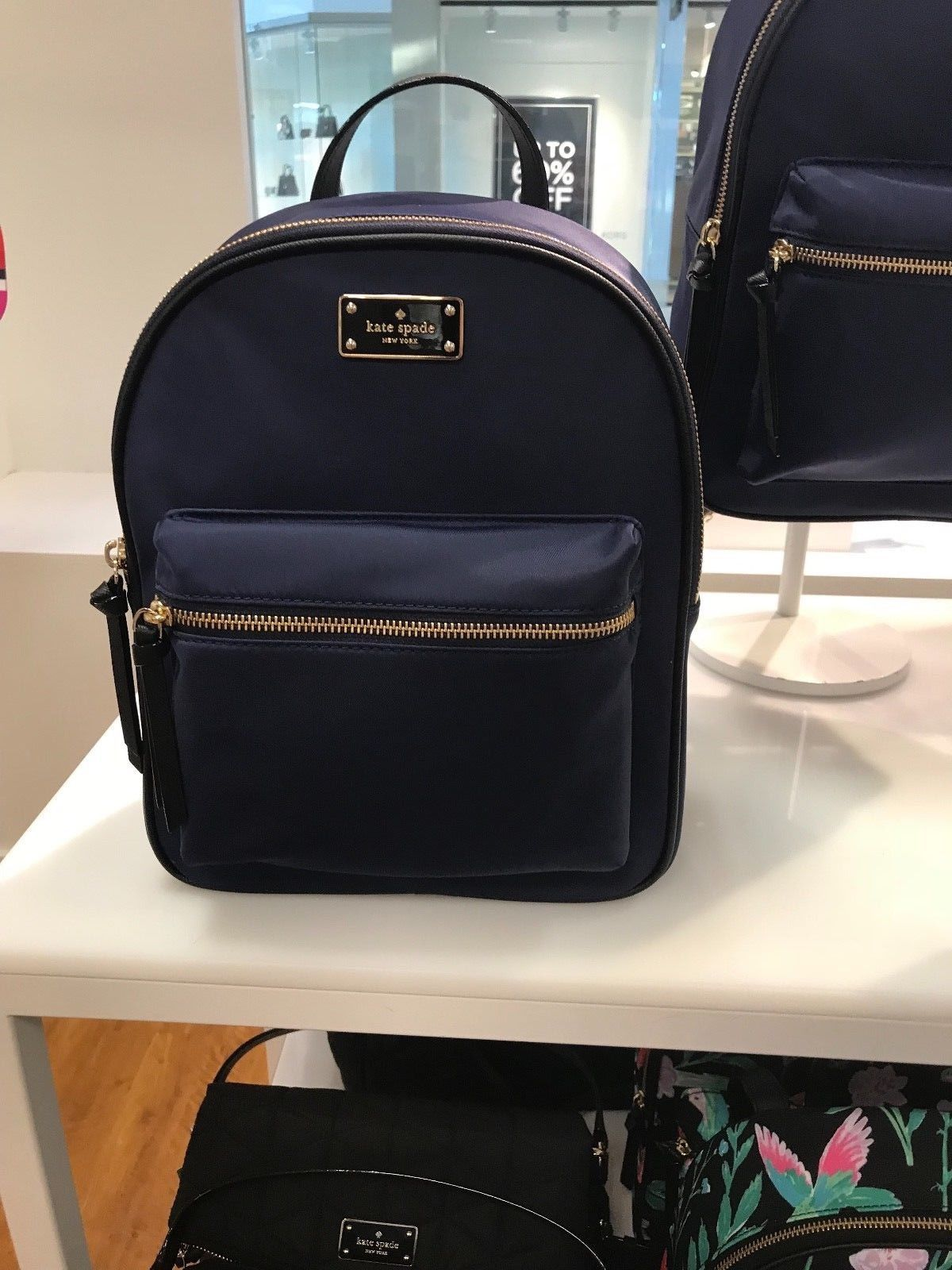 c72743bbf 57. 57. NWT Kate Spade Wilson Road Small Bradley Backpack Red WKRU 4717 French  Navy. NWT Kate Spade ...
