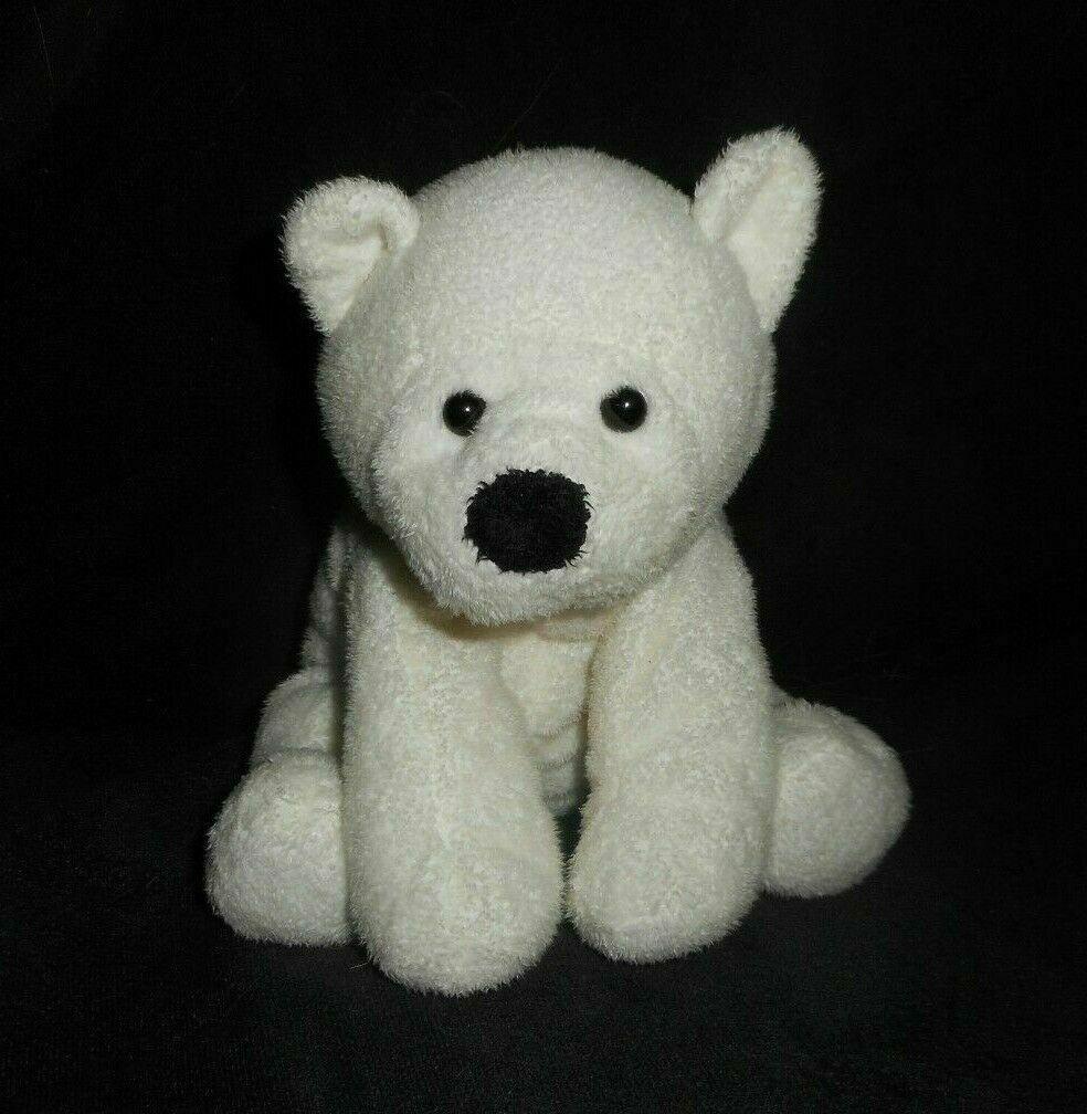 TY PLUFFIES 2007 BABY FREEZER WHITE POLAR TEDDY BEAR STUFFED ANIMAL PLUSH - $23.52