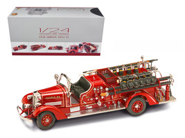 1938 Ahrens Fox VC Fire Engine Truck Red with Accessories 1/24 Diecast M... - $112.18