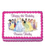 DISNEY PRINCESS party decoration edible birthday cake image cake topper ... - $7.80