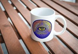 New World Order Illuminati Symbol 11 oz porcelain mug #669 NWO Mug - $19.97
