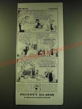 1938 Kellogg's All-Bran Cereal Ad - Mutt and Jeff - by Bud Fisher - $14.99