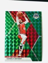 Carmelo Anthony 2019-20 Panini Mosaic Basketball Green Prizm Card #25 - $0.98