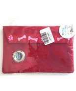 Pet Dispenser Waste Holder Pouch POOP BAG Holds Cell Phone Keys Red NEW - $13.86