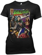 The Big Bang Theory Group on a Comic Book Cover Juniors Style T-Shirt NE... - $12.59
