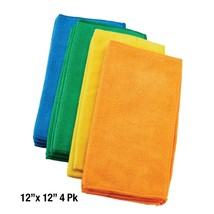 "4 pk Grant's Microfiber Cleaning Cloth Rags 12"" x 12"" Auto Car Detailing - £6.05 GBP"