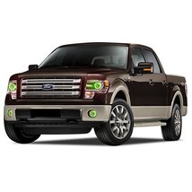 FLASHTECH for Ford F-150 13-14 Green Single Color LED Halo Ring Headlight and Fo - $233.24