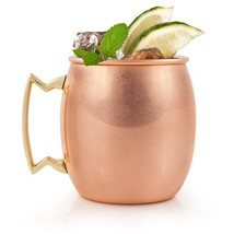 Hammered Moscow Mule Copper Mugs, Stainless Steel Moscow Mule Mug - £30.10 GBP