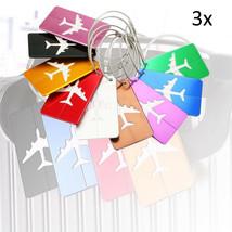 3XAluminum Alloy Luggage Tags Bag ID Name Address Labels Suitcase Travel... - $15.18