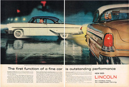 Vintage 1955 2-Page Magazine Ad Lincoln Capri Sport Coupe Magnificent Driving - $5.93