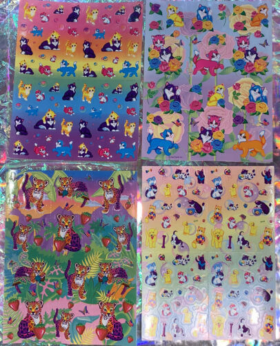 *PickYourSheet* VINTAGE LISA FRANK Complete & Crispy Sticker Sheets HTF RARE
