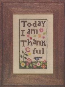 Thankful cross stitch chart Heart in Hand
