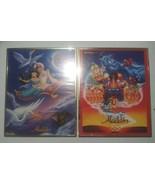 Lot of 2 Vintage 1992 ALADDIN Movie Poster Framed 90s 20x16 OSP Walt Disney - $49.49