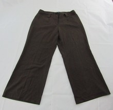 Lane Bryant Dress Pants Brown Wide Leg 2 Pocket Stretch Career Women Plu... - $16.82