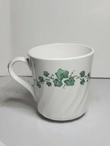 Corelle Corning Callaway Ivy Swirl Coffee Tea Mug Cup Vintage Green Ivy Ribbed - $10.88