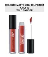 KISS NEW YORK PROFESSIONAL CELESTE MATTE LIQUID LIPSTICK KMLS02 WILD TANGER - $4.84