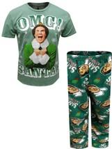 Briefly Stated Men's Elf Movie Buddy the Elf OMG Santa Pajama Medium NEW... - $19.27