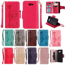 NEW PU Leather Embossing Flip Stand Wallet Cover Case for Samsung J3 2017 - $10.99