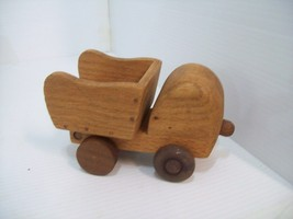 Vintage Hand Made Wooden Dump Truck Rochester MN, Handcrafted Signed by ... - $10.88