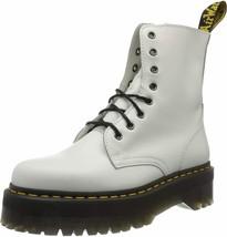 Dr. Martens, Jadon 8-Eye Leather Platform Boot for Men and Women, White Polished - $395.94+