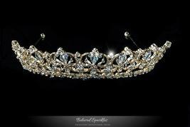 Marissa Vintage Art Deco Gold Tiara | Swarovski Crystal - $87.95
