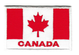 Canada Flag Embroidered Iron on Sew Patch Canadian Leaf Icon Badge Bag H... - $8.22+
