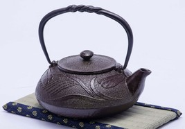 Japanese Tea Ceremony Pot Tetsubin Sado Dragonfly Relief Craftman Sign T... - $97.02