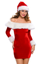Thicken Adult Sexy Red Velvet Santa Christmas Costume 7288 Girl Hallowee... - $48.47