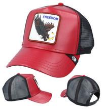 Goorin Bros Snapback Mesh Cap Red Big Bird Freedom Eagle Trucker Hat 101-0842