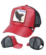 Goorin Bros Snapback Mesh Cap Red Big Bird Freedom Eagle Trucker Hat 101... - $44.54