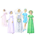 60s Vintage Simplicity Sewing Pattern 8144 Misses Wedding Bridesmaid Dress 12 - $8.95