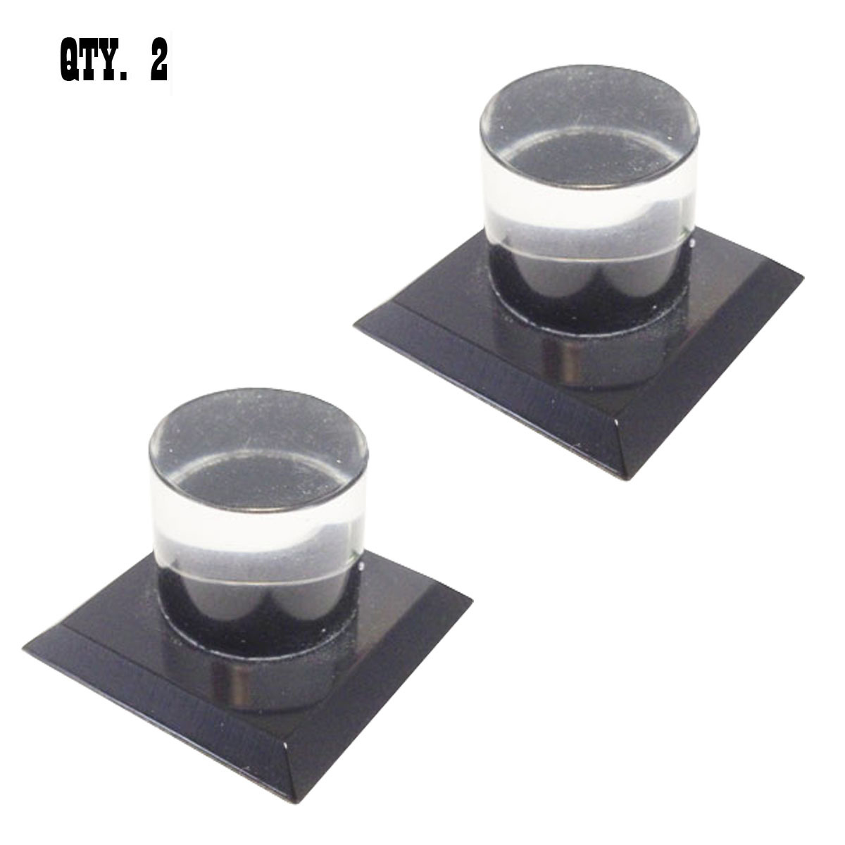 Black Acrylic Stick-On Mirror Knobs - Pack of 2 - $14.95