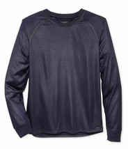 GUESS Men's Mason Raglan Long Sleeve T-Shirt, Blue Navy, Size Small - $29.69
