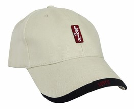 NEW NWT LEVI'S RED TAB MEN'S CLASSIC COTTON ADJUSTABLE BASEBALL HAT CAP KHAKI