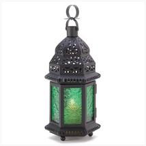 2 -  Green Glass Moroccan Lantern - $29.95
