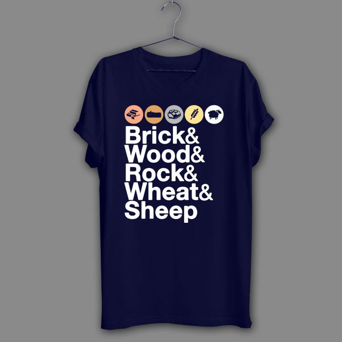 Helvetica Catan Board Game Black T-Shirt Geek Navy Shirt Adult Humor Funny Tee