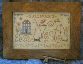 Our Nest cross stitch chart Homespun Elegance - $8.10
