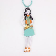 Wholesale new 2014 acrylics cute girls chain colorful lovely figures fashion nec - $13.56