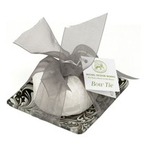 Michel Design Works Honey Almond Glass Soap Dish & Set Bow Tie - $16.50
