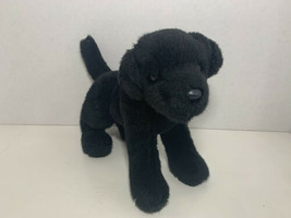 Aurora small plush black lab Labrador puppy dog stuffed animal - $5.93