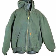 Carhartt Mens Size 3XL Jacket DUCK THERMAL-LINED Active Hooded Coat Gree... - $89.09