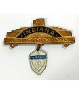 INDIANA NISBOVA Pin Vocal Medal N.I.S.B.O.V.A School Band Orchestra Asso... - $18.86